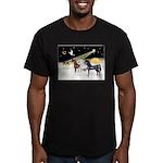 XmsDove/3 Horses (Ar) Men's Fitted T-Shirt (dark)