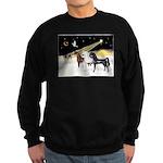 XmsDove/3 Horses (Ar) Sweatshirt (dark)