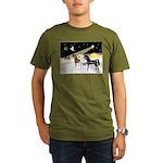 XmsDove/3 Horses (Ar) Organic Men's T-Shirt (dark)