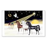 XmsDove/3 Horses (Ar) Rectangle Sticker 10 pk)