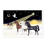XmsDove/3 Horses (Ar) Postcards (Package of 8)