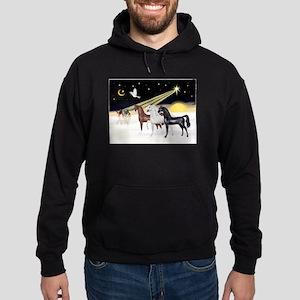 XmsDove/3 Horses (Ar) Hoodie (dark)