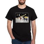 XmsDove/3 Horses (Ar) Dark T-Shirt