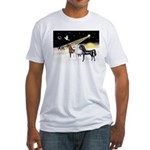 XmsDove/3 Horses (Ar) Fitted T-Shirt