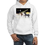 XmsDove/3 Horses (Ar) Hooded Sweatshirt