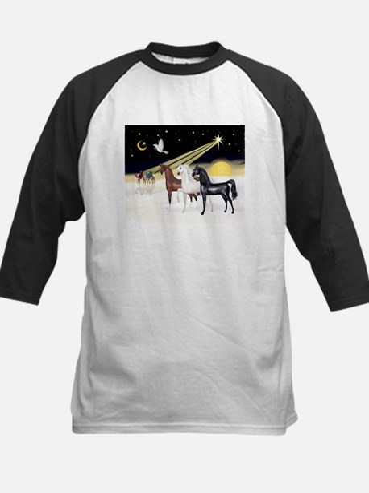 XmsDove/3 Horses (Ar) Kids Baseball Jersey