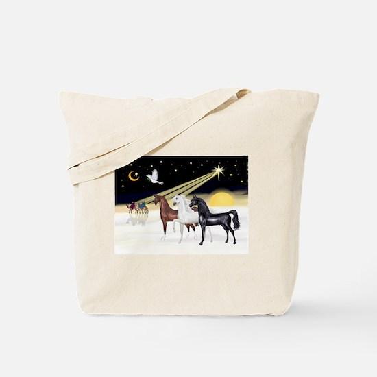 XmsDove/3 Horses (Ar) Tote Bag