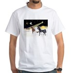 XmsDove/3 Horses (Ar) White T-Shirt