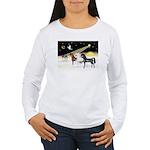XmsDove/3 Horses (Ar) Women's Long Sleeve T-Shirt