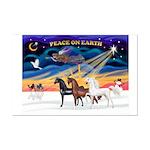 XmsSunrs/3 Horses (Ar) Mini Poster Print