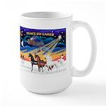 XmsSunrs/3 Horses (Ar) Large Mug