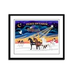 XmsSunrs/3 Horses (Ar) Framed Panel Print