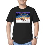 XmsSunrs/3 Horses (Ar) Men's Fitted T-Shirt (dark)