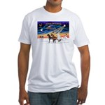 XmsSunrs/3 Horses (Ar) Fitted T-Shirt