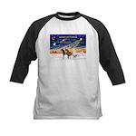 XmsSunrs/3 Horses (Ar) Kids Baseball Jersey