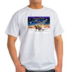 XmsSunrs/3 Horses (Ar) Light T-Shirt