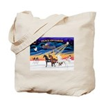 XmsSunrs/3 Horses (Ar) Tote Bag