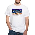 XmsSunrs/3 Horses (Ar) White T-Shirt
