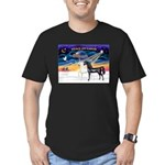 XmsSunrs/2 Horses (Ar) Men's Fitted T-Shirt (dark)