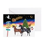 XmsSigns/3 Horses (Ar) Greeting Card