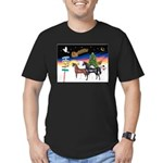 XmsSigns/3 Horses (Ar) Men's Fitted T-Shirt (dark)