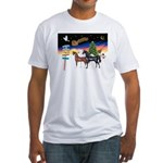 XmsSigns/3 Horses (Ar) Fitted T-Shirt