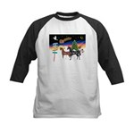 XmsSigns/3 Horses (Ar) Kids Baseball Jersey