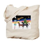 XmsSigns/3 Horses (Ar) Tote Bag