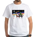XmsSigns/3 Horses (Ar) White T-Shirt