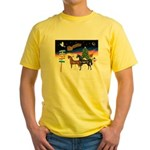 XmsSigns/3 Horses (Ar) Yellow T-Shirt