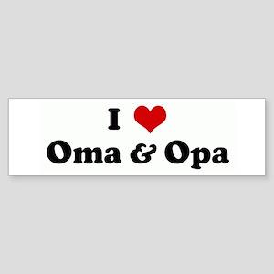 I Love Oma & Opa Bumper Sticker