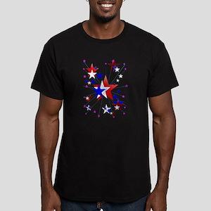 Amercian Stars Men's Fitted T-Shirt (dark)