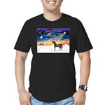 XmsSunrs/Horse (Ar-blk) Men's Fitted T-Shirt (dark
