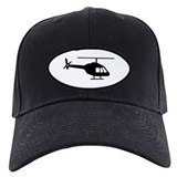 Helicopter Baseball Cap with Patch