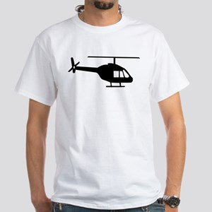 Helicopter White T-Shirt