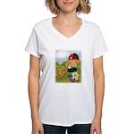 Alphorn Sepp Women's V-Neck T-Shirt
