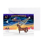 XmsSunrs/Horse (Ar-Br) Greeting Cards (Pk of 20)