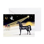 XmasDove/Horse (Ar-blk) Greeting Cards (Pk of 20)