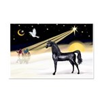 XmasDove/Horse (Ar-blk) Mini Poster Print