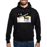 XmasDove/Horse (Ar-blk) Hoodie (dark)