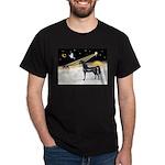XmasDove/Horse (Ar-blk) Dark T-Shirt