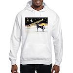 XmasDove/Horse (Ar-blk) Hooded Sweatshirt