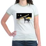 XmasDove/Horse (Ar-blk) Jr. Ringer T-Shirt