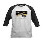 XmasDove/Horse (Ar-blk) Kids Baseball Jersey