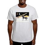 XmasDove/Horse (Ar-blk) Light T-Shirt