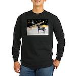 XmasDove/Horse (Ar-blk) Long Sleeve Dark T-Shirt