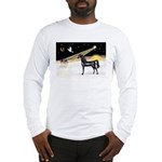 XmasDove/Horse (Ar-blk) Long Sleeve T-Shirt