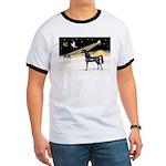 XmasDove/Horse (Ar-blk) Ringer T