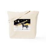 XmasDove/Horse (Ar-blk) Tote Bag