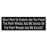 What Part Of Europe Are You From Bumper Sticker